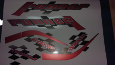 Gilera Runner 50 & 125 new shape sticker set, RED SOUL (black soul, white soul REP) SP /ST